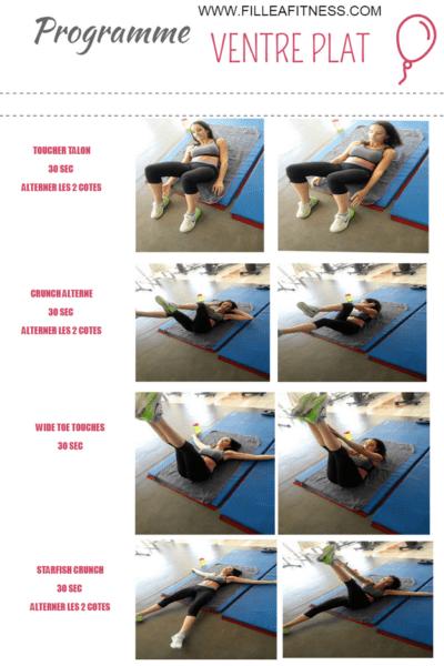 programme fitness abdominaux femme