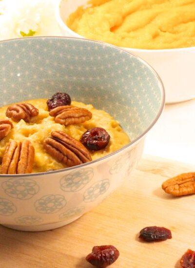 recette porridge patate douce
