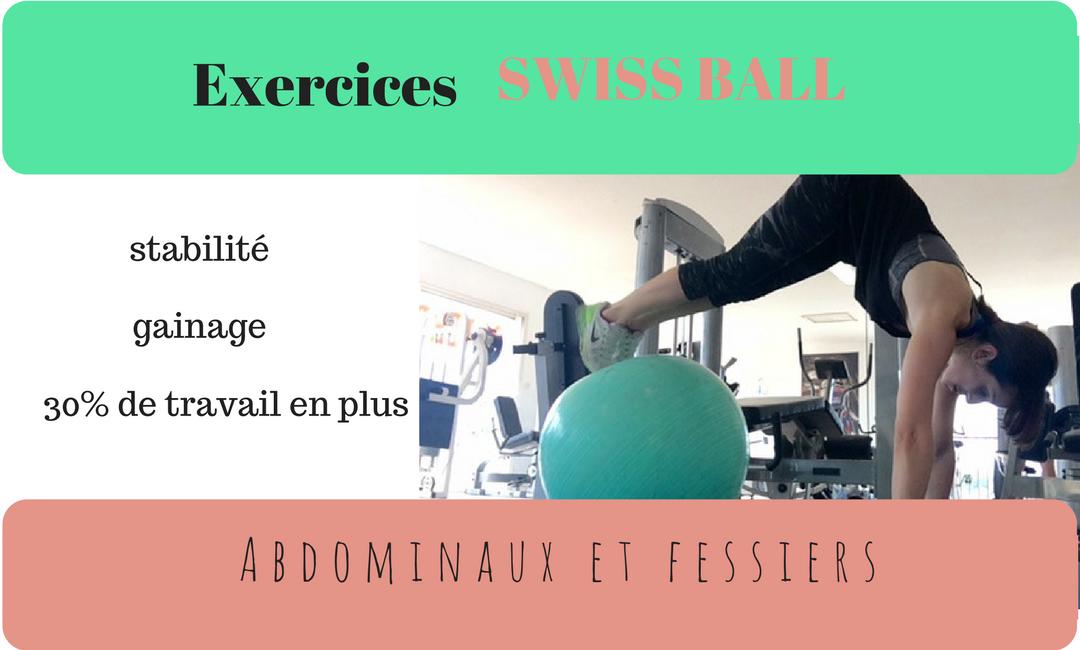 La swiss ball va vous aider à vous raffermir et à vous tonifier pendant votre séance de sport.