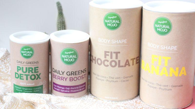 Je teste les produits natural mojo, des compléments alimentaires naturel et superfood.