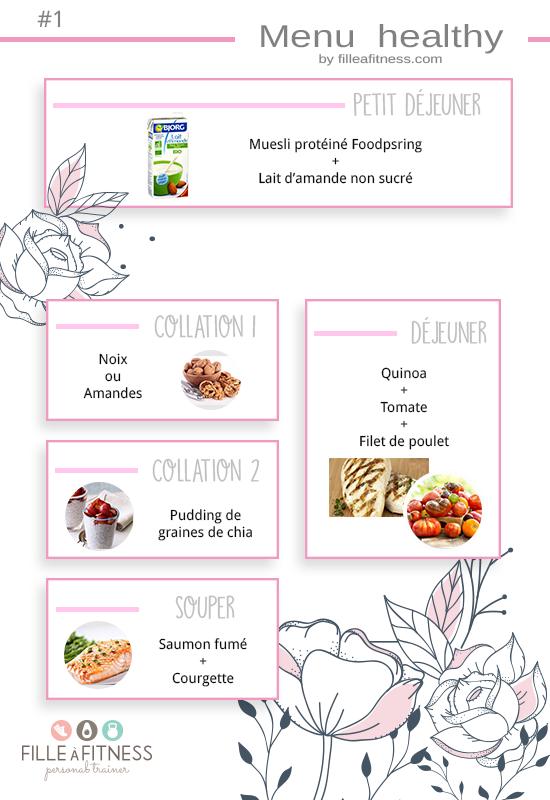 menu healthy facile