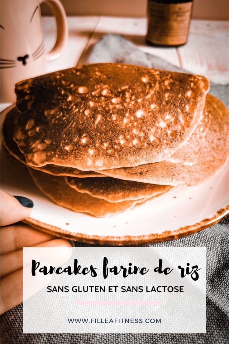 J'aime préparer des pancakes et je teste la farine de riz, qui est sans gluten.