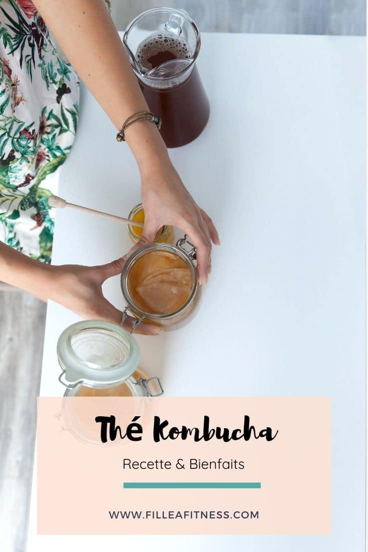 Le thé Kombucha est une boisson fermentée par une colonie symbiotique de bactéries et de levures. Voici ma recette et je vous explique les bienfaits de cette boisson riche en probiotiques.
