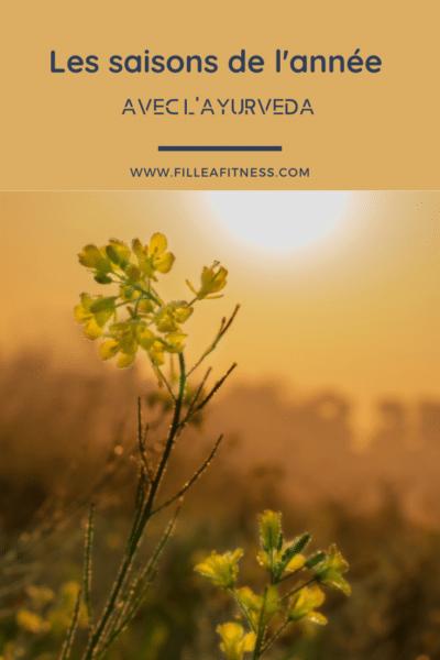 Chaque saison en ayurveda est différente, selon votre dosha, cela va influencer votre mode de vie.