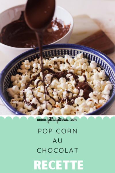 Comment préparer des pop corn quand il nous reste du chocolat ?